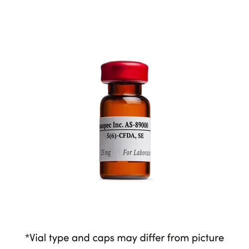 Bottle of 5(6)-CFDA, SE (5(6)-Carboxyfluorescein diacetate, SE) Fluorescent pH Indicator