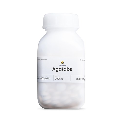 Bottle of AgaTABs 150 g (300 pce)